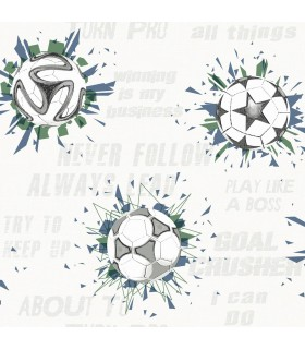 KI0575 - A Perfect World Wallpaper-Soccer Ball Blast