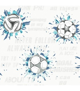 KI0577 - A Perfect World Wallpaper-Soccer Ball Blast