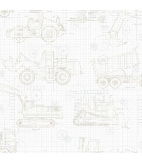 KI0596 - A Perfect World Wallpaper-Construction Blueprint
