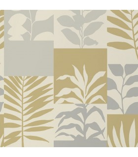 2814-M1384 - Bath by Advantage Wallpaper-Hammons Block Botanical
