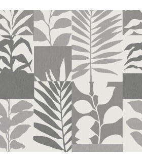 2814-M1383 - Bath by Advantage Wallpaper-Hammons Block Botanical