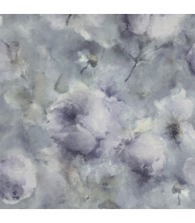2814-467307 - Bath by Advantage Wallpaper-Innocent Watercolor Floral