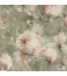 2814-467314 - Bath by Advantage Wallpaper-Innocent Watercolor Floral