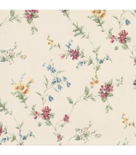 2814-25190 - Bath by Advantage Wallpaper-Marcus Floral Trail