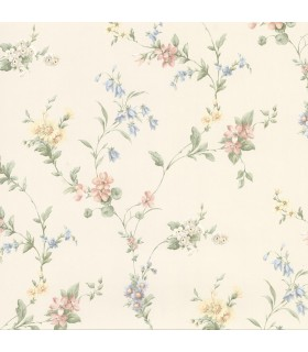 2814-25191 - Bath by Advantage Wallpaper-Marcus Floral Trail