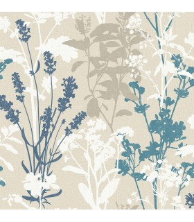 2814-24572 - Bath by Advantage Wallpaper-Pippin Wild Flowers