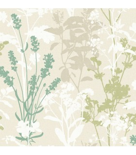 2814-24573 - Bath by Advantage Wallpaper-Pippin Wild Flowers