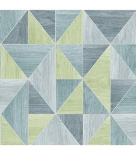2814-24961 - Bath by Advantage Wallpaper-Simpson Geometric Wood