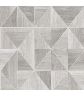 2814-24960 - Bath by Advantage Wallpaper-Simpson Geometric Wood