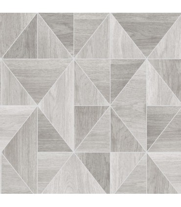 2814-24960 - Bath by Advantage Wallpaper-Simpson Geometric Wood