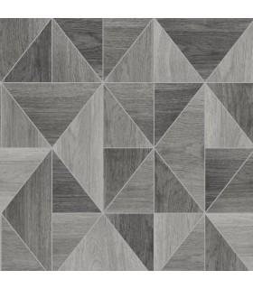 2814-24963 - Bath by Advantage Wallpaper-Simpson Geometric Wood