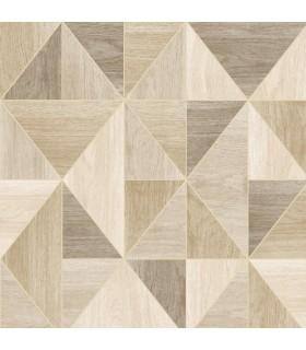 2814-24962 - Bath by Advantage Wallpaper-Simpson Geometric Wood
