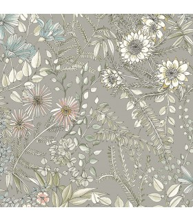 2821-12903 - Folklore Wallpaper by A Street Prints - Full Bloom Floral