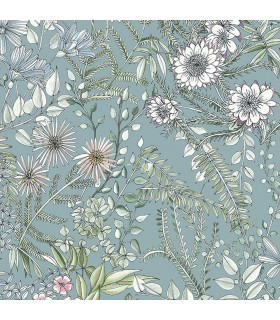 2821-12904 - Folklore Wallpaper by A Street Prints - Full Bloom Floral