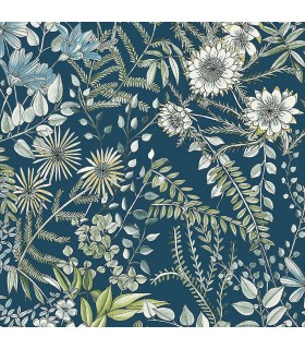 2821-12902 - Folklore Wallpaper by A Street Prints - Full Bloom Floral