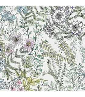 2821-12901 - Folklore Wallpaper by A Street Prints - Full Bloom Floral