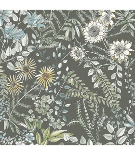 2821-12905 - Folklore Wallpaper by A Street Prints - Full Bloom Floral