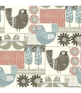 2821-25117 - Folklore Wallpaper by A Street Prints - Hennika Patchwork