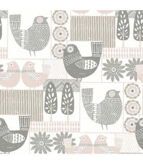 2821-25115 - Folklore Wallpaper by A Street Prints - Hennika Patchwork