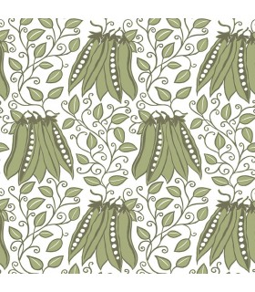 2821-25120 - Folklore Wallpaper by A Street Prints - Peas In A Pod Garden