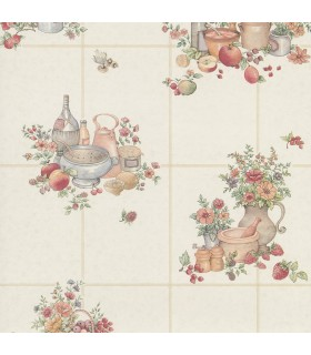 2813-24992 - Kitchen by Advantage Wallpaper-Giada Fruit Basket Tile