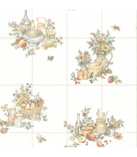 2813-24991 - Kitchen by Advantage Wallpaper-Giada Fruit Basket Tile