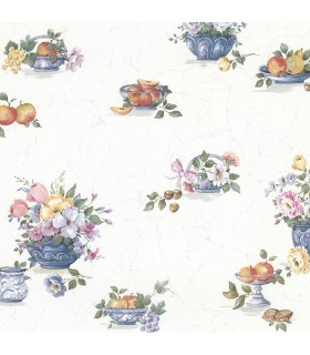 2813-24989 - Kitchen by Advantage Wallpaper-Puck Fruit Basket