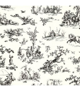 KW7715 - Black & White Toile
