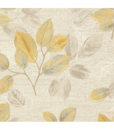 2835-D140401 - Advantage Deluxe Wallpaper-Dorado Leaf Toss