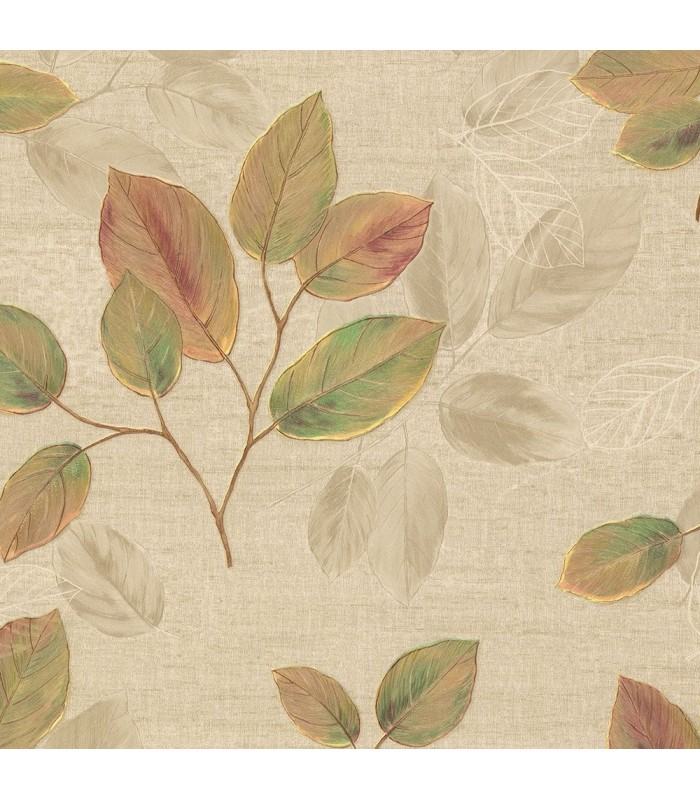 2835-D140402 - Advantage Deluxe Wallpaper-Dorado Leaf Toss