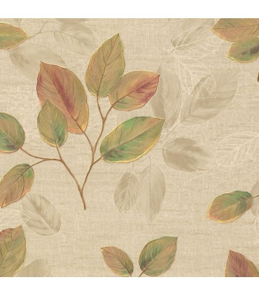 2835-D140402 - Advantage Deluxe Wallpaper-Dorado Leaf Toss