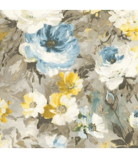 2835-SY5112P- Advantage Deluxe Wallpaper-Macau Painterly Floral
