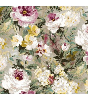 2835-SY5111P- Advantage Deluxe Wallpaper-Macau Painterly Floral