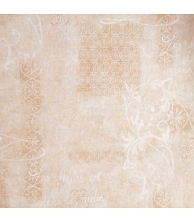 EX2925 - French Script on Tan and Cream Faux Stucco Wallpaper