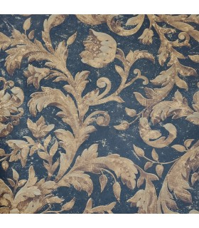 EM5289 - Black and Gold Acanthus Leaves Wallpaper Special
