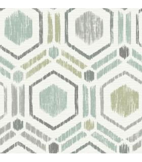 2901-25435 - Perennial Wallpaper by A Street-Borneo Geometric