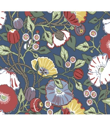 CY1515 - Conservatory Wallpaper by York-Vincent Poppies