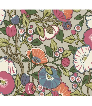 CY1516 - Conservatory Wallpaper by York-Vincent Poppies