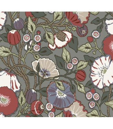 CY1518 - Conservatory Wallpaper by York-Vincent Poppies