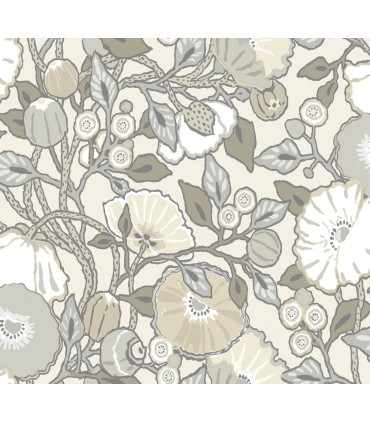 CY1519 - Conservatory Wallpaper by York-Vincent Poppies