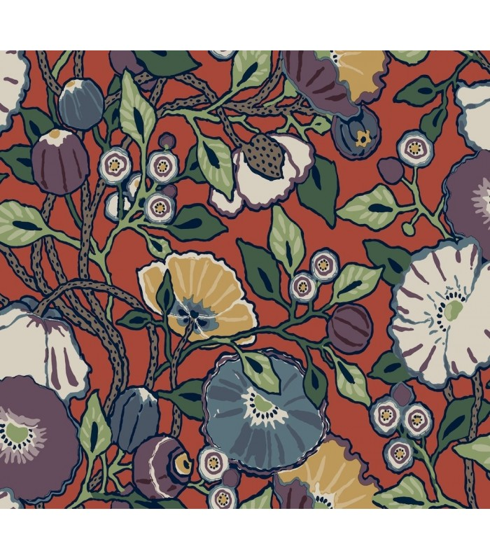 CY1520 - Conservatory Wallpaper by York-Vincent Poppies