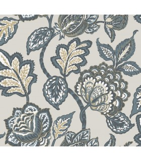 CY1537 - Conservatory Wallpaper by York-Mid Summer Jacobean