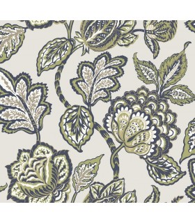 CY1539 - Conservatory Wallpaper by York-Mid Summer Jacobean