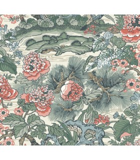 CY1542 - Conservatory Wallpaper by York-Dynasty Floral Branch