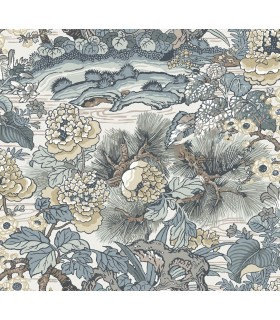 CY1543 - Conservatory Wallpaper by York-Dynasty Floral Branch