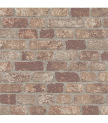 MG58409-Marburg Wallpaper by Brewster-Granulat Brick