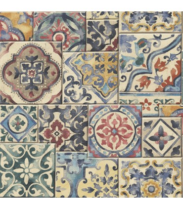 2922-22301-Trilogy Wallpaper by A Street-Estrada Marrakesh Tile