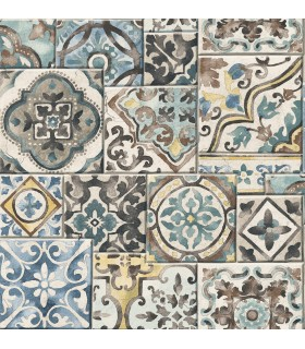 2922-22315-Trilogy Wallpaper by A Street-Estrada Marrakesh Tile