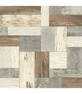 2922-25385 - Trilogy Wallpaper by A Street-Keaton Distressed Wood