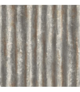 2922-22333 - Trilogy Wallpaper by A Street-Kirkland Corrugated Metal